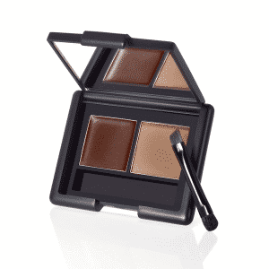 brow kit with wax and powder