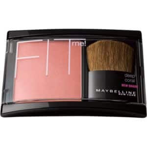 black packaging of Maybelline Fit blush in a pink tone