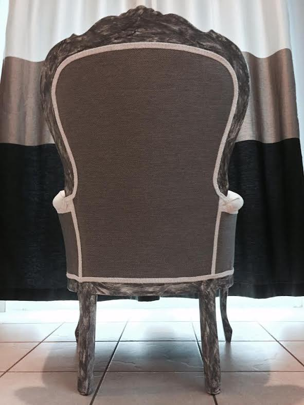 image of an arm chair showing all terminations